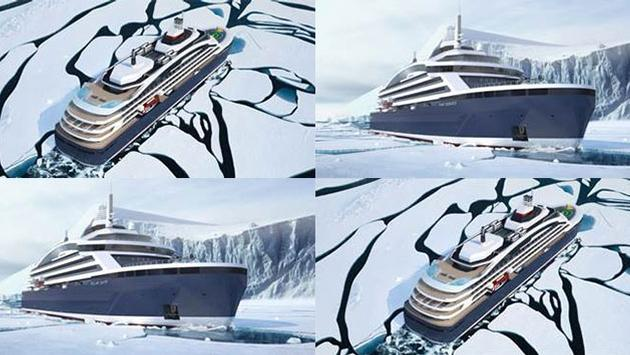 Ponant's electric hybrid icebreaker powered by liquefied natural gas