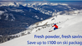 Fresh powder, fresh savings.