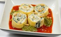 Spinach and Ricotta Rotolo Pasta