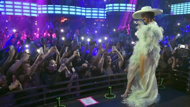 Cardi B performs at KAOS nightclub at Palms Casino Resort in Las Vegas