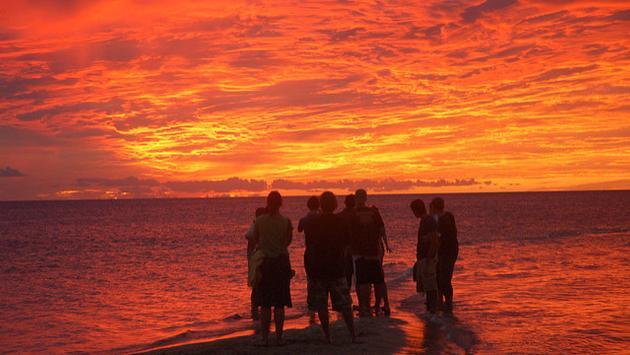 A spectacular western Fiji sunset