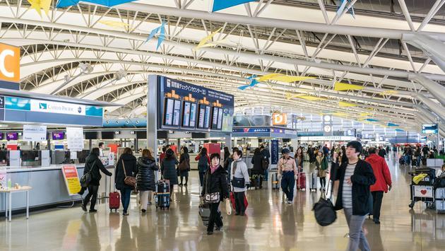Aeroporto Internacional de Kansai em Osaka, Japão