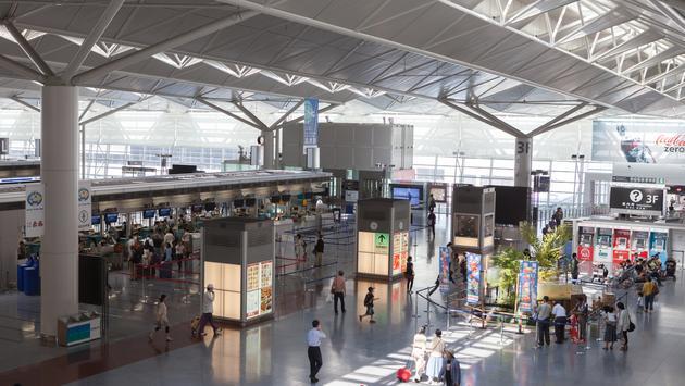 Aeroporto Internacional Chubu Centrair em Nagoya, Japão
