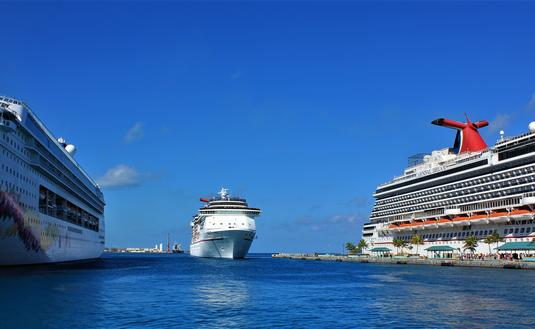 Cruise Ship comes in for Docking at Nassau