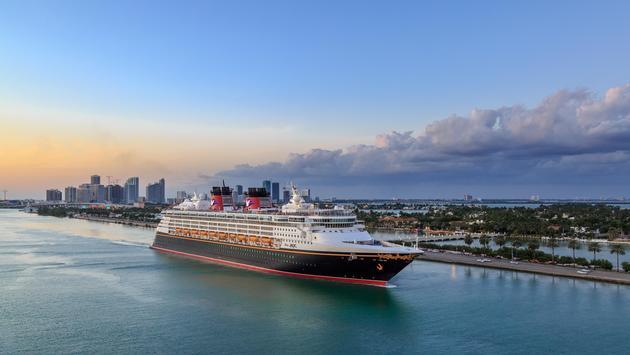 Disney MAGIC Cruise ship sailing from port of miami