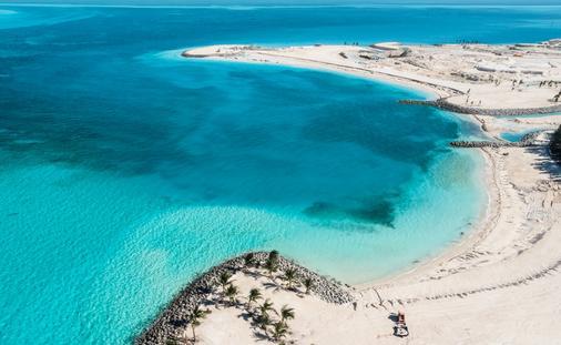 Ocean Cay MSC Marine Reserve has more than 2 miles of sandy beach shore