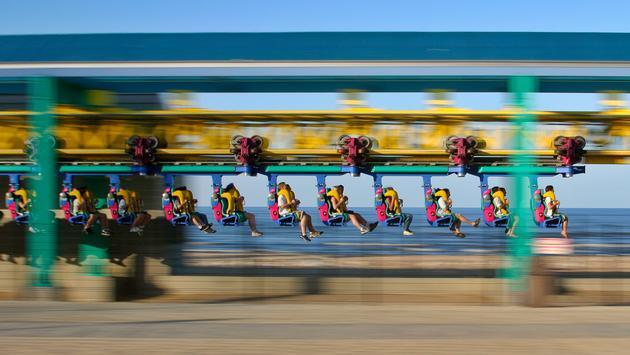 Wicked Twister roller coaster at Cedar Point in Sandusky, Ohio