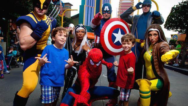 Marvel superheroes at Universal Orlando's Islands of Adventure