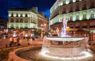 Fountain at Puerta del Sol in Madrid