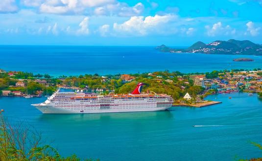 Carnival Cruise Ship Fascination at dock