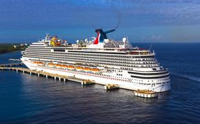 The Carnival Breeze cruise ship in port