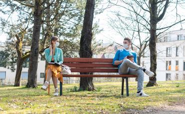 social distance at a park
