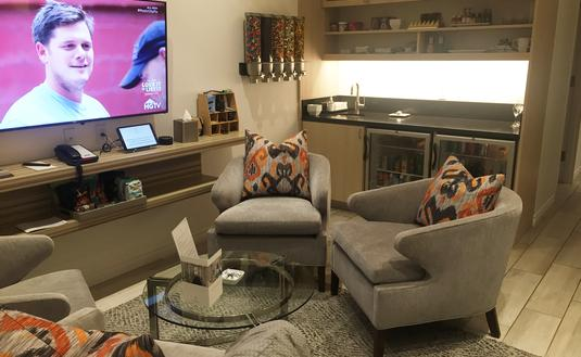 United Airlines private suite at LAX