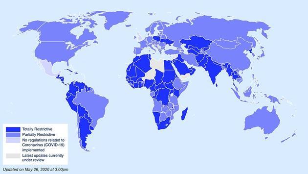 IATA Interactive Coronavirus Travel Map