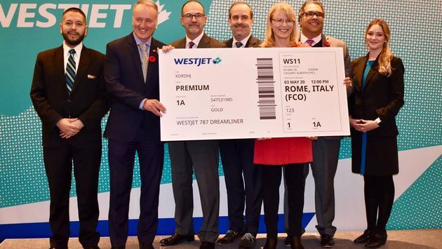 WestJet Calgary-Rome