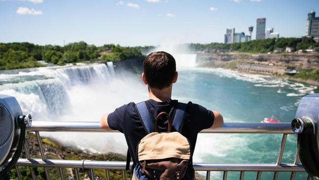 Tourists enjoying the views at Niagara Falls
