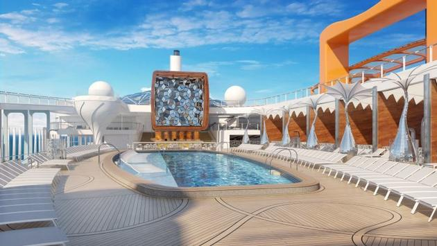 Une des piscines du Celebrity Edge