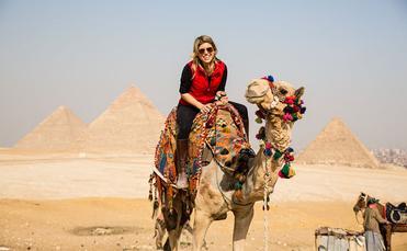 Egypt camel ride USTOA Travel Together