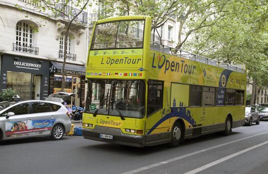 Tourist Bus in Paris, France