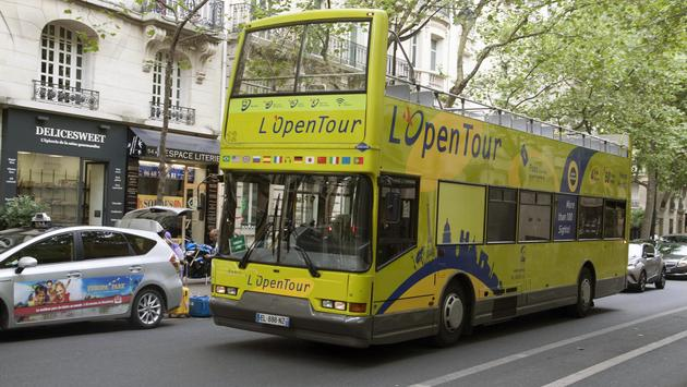 Tourist Bus in Paris, France
