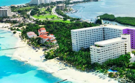 Vista aérea del Grand Sens Cancún. (Foto de Oasis Hotels & Resorts)