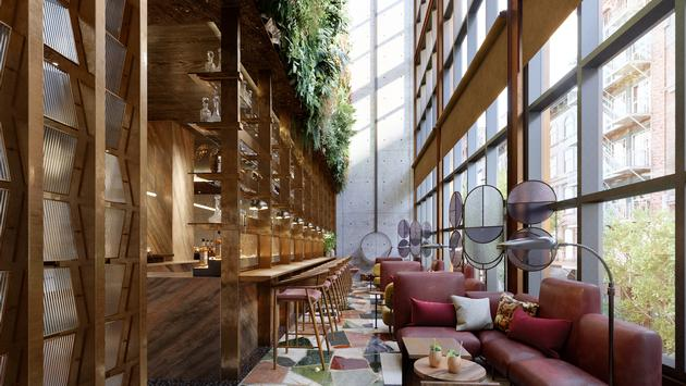 Moxy Chelsea - the conservatory room