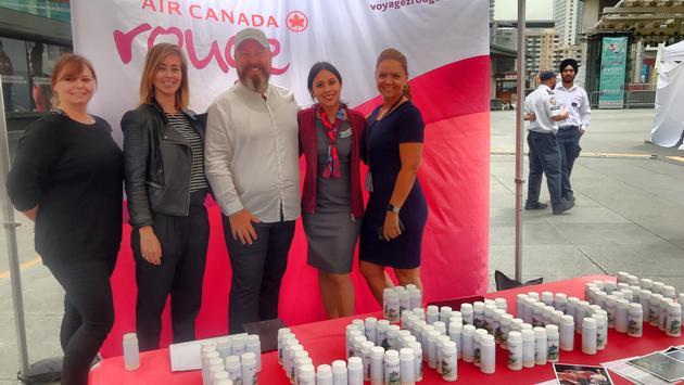 Air Canada officials at Visit Florida event