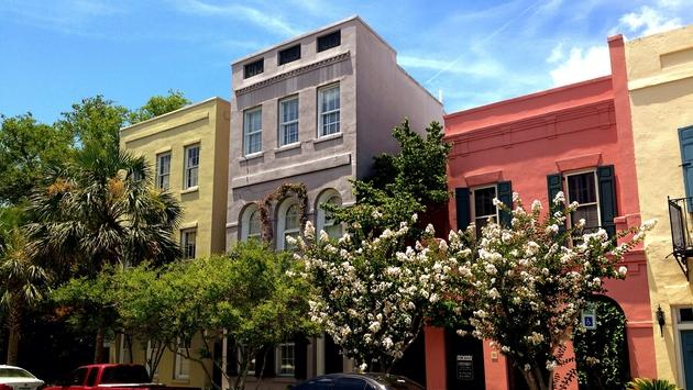 Colorful Charleston street