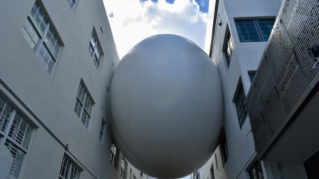 The Orb Connecting The Betsy Hotel with The Carlton Building in Miami, Florida