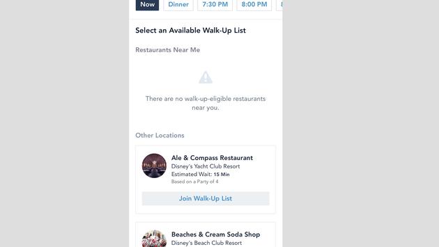 Disney dining app