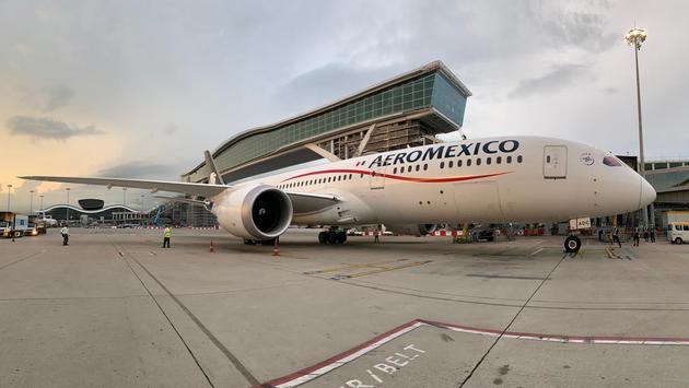 Equipo Boeing 787 de Aeroméxico utilizado para transporte de carga de Hong Kong a la CDMX. (Foto de Aeroméxico)