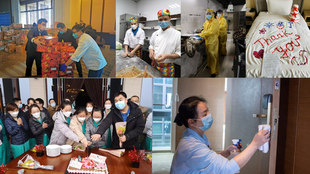 Hilton team members support the fight against COVID-19 in China.