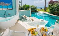 Beachfront Crystal Lagoon Swim-up Butler Room w/ Patio Tranquility Soaking Tub