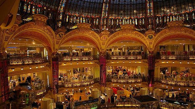 Galeries Lafayette an upmarket Paris department store