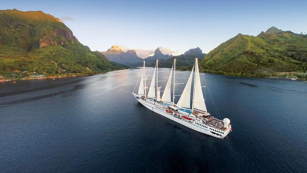 Windstar's Wind Spirit in Tahiti