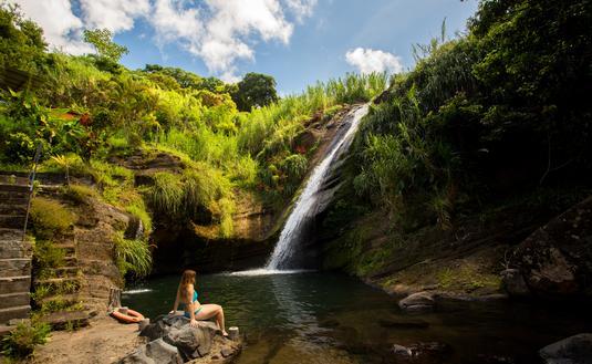 Las cascada Concord en Granada (Foto de Arthur Daniel / Grenada Tourism Authority)
