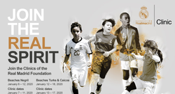 Don't miss the 2020 Real Madrid Foundation Clinics! Powered by Beaches Resorts