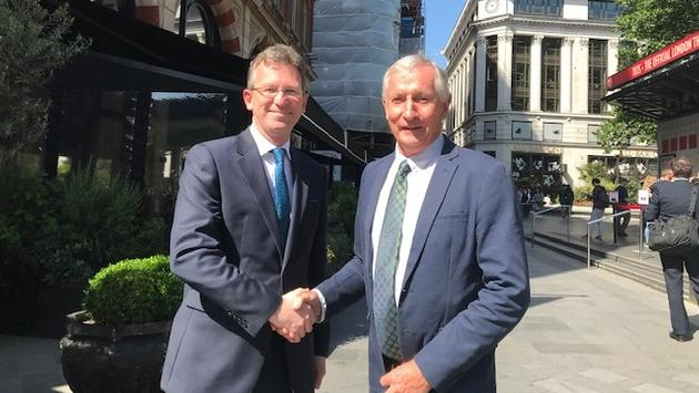 Secretary of State for Culture, Media and Sport, Jeremy Wright, and British Tourist Authority Chairman Steve Ridgway