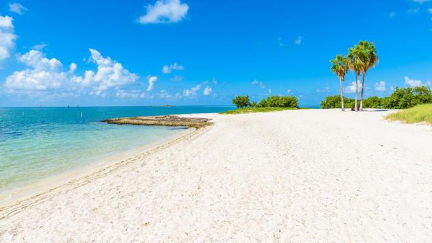 Sombrero Beach in the Florida Keys, Marathon