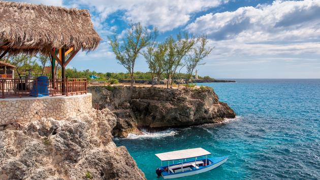 Rocky beach in Negril, Jamaica