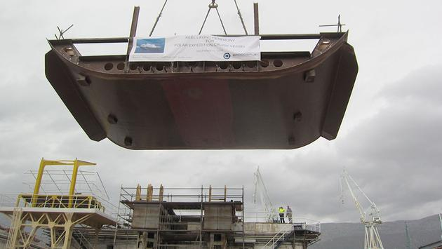 Oceanwide Expeditions lays the keel for Hondius