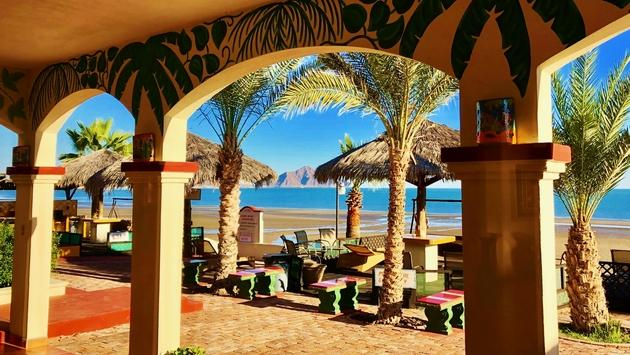 Only five minutes south of the heart of the town, Sandollar Beachfront Resort offers the intimacy and charm of Baja living with its fully furnished oceanfront suites. (photo by Noreen Kompanik)