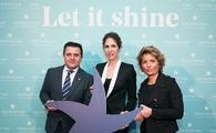 Aurelio Vazquez, Iberostar Group COO; Sabina Fluxa, vice president and CEO; Gloria Fluxa, vice president and CEO at the event in Madrid