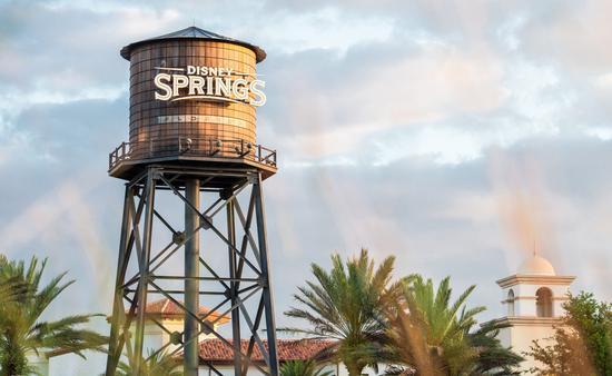 Water tower at Disney Springs, Florida.