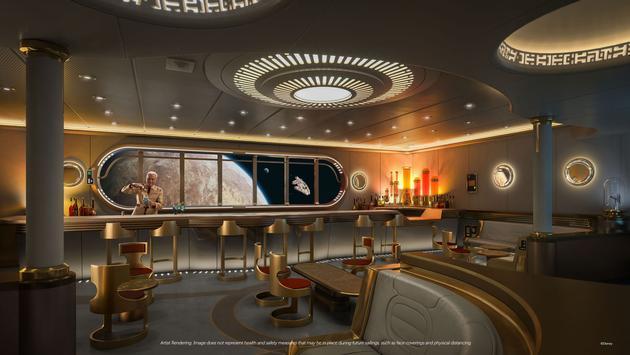 Star Wars Hyperspace Lounge aboard the Disney Wish