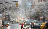 Winter on Madison Avenue in New York City