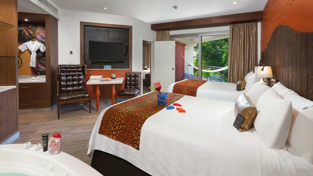 Deluxe family room at Hard Rock Hotel Riviera Maya