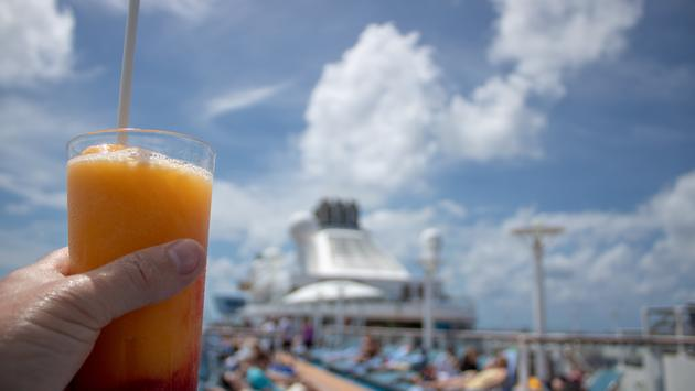 Orange Cocktail on on a cruise ship.