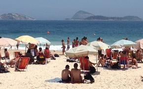Rio's Ipanema beach is a popular queer gathering spot. (Photo by Paul J. Heney.)
