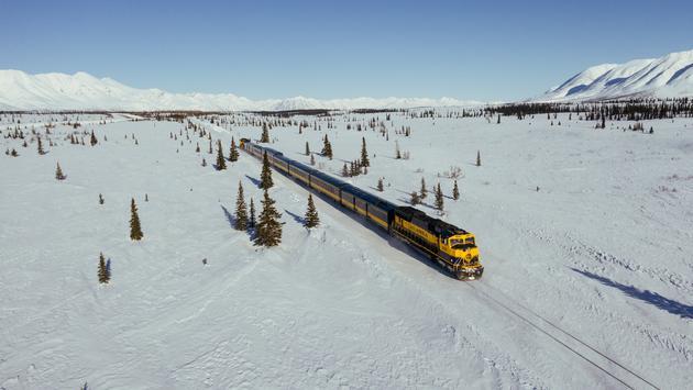 Alaska Railroad in the winter